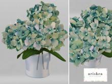 Ariskea[Isabelle] Hydrangea Vase [Greeny]