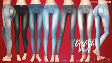 "( Holly Mill ) - ""Deelish"" Skinny Jeans - Fatpack [ For Maitreya Lara & Slink Hourglass ONLY ]"