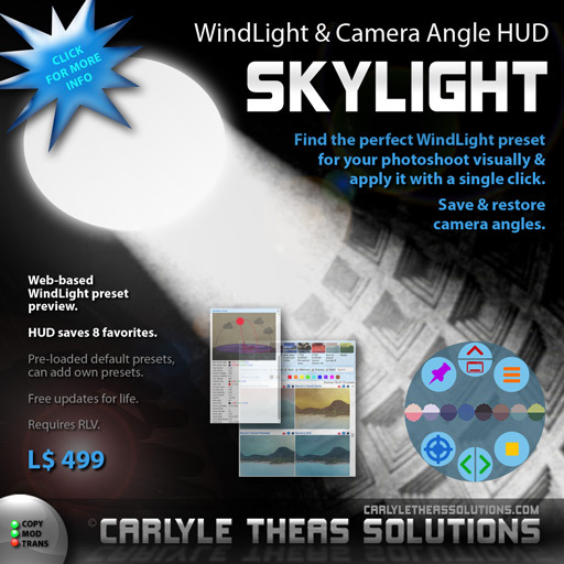 (CTS) Skylight - Manage WindLight Presets and Camera Angles