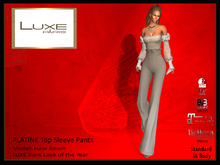 LUXE Paris PLATINE  Top, Sleeve and Palazzo Pants