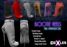 Full Perm Bootie Heels by DeXler ---------