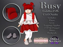 {LeDoux} Busy TD Girl White/Red