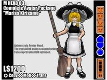 """M HEAD 03 Complete Avatar Package """"marisa Kirisame"""""""