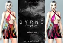 (BYRNE) Flamejob Dress - Hot