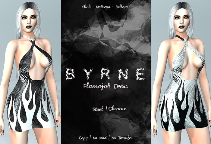 (BYRNE) Flamejob Dress- Metals