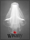 wivany Bridal Veil S-Pearl Headband & Veil Texture HUD