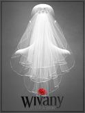 wivany Bridal Veil S-Hairclip w Rose-Steph. & Veil Text HUD