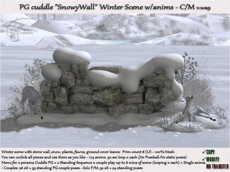Snowy Wall Winter scene PG 174 anims. wa9 C/M