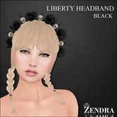 Liberty Headband Black Rose