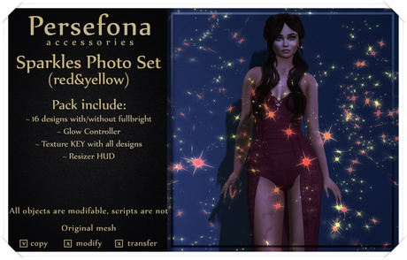 Persefona Sparkles Photo Set (red&yellow)