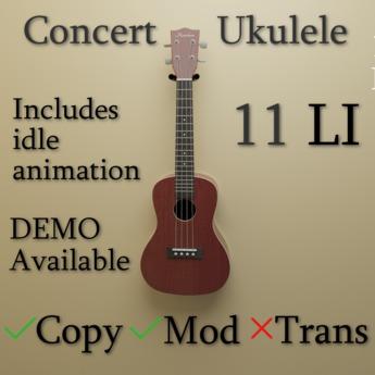 Concert Ukulele + Animation