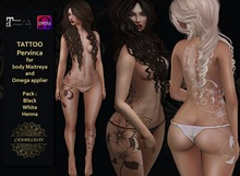 """CHAMELEON - Tattoo """"Pervinca"""" Pack 3 colors for body Maitreya and Omega Appliers"""