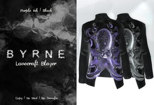(BYRNE) Lovecraft Blazer-PurpleInk/Black
