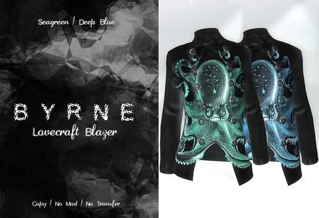 (BYRNE) Lovecraft Blazer-SeaGreen/DeepBlue
