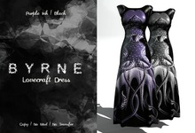 (BYRNE) Lovecraft Dress-PurpleInk/Black