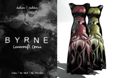 (BYRNE) Lovecraft Dress-Auburn/Golden