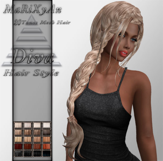 Second Life Marketplace Hair Style Olivia Mesh Hair Demo
