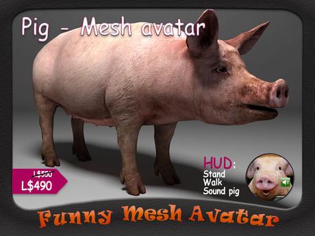 PIG - FUNNY MESH AVATAR