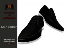 GQ DS Black Perforated Leather Shoes