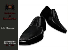 GQ DS Charcoal, Leather Dress Shoes