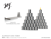 Soy. Aluminum Cans Tower [addme]