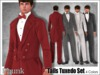 [Phunk] Mesh Men's Tails Tuxedo (4Colors)
