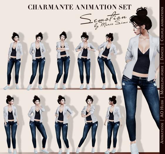 SEmotion Charmante Set  - 10 high quality mocap standing animations