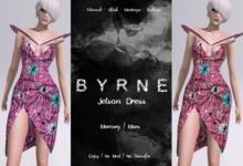 (BYRNE) Jetson Dress-MERCURY/MARS