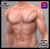 UNISEX big chest scar