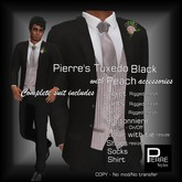 Pierre Styles  Mesh Tux BLACK with PEACH[ Compatible with ADAM, SIGNATURE,SLINK,BELLEZA