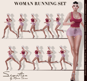 SEmotion Woman's Running Pack - 10 running animations
