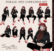 SEmotion Female Sits Set - 10 HQ Bento Animations