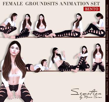 SEmotion Female GroundSits Set - 10 HQ Bento Animations