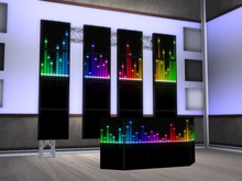 screen DJ booth set MESH