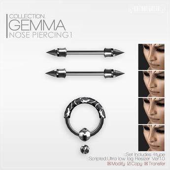 +ROZOREGALIA+*Gemma*Nose Piercing1