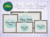.BASIL. Mint Bow Photo Frames