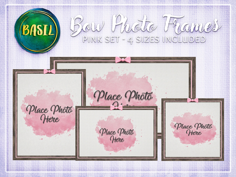 .BASIL. Pink Bow Photo Frames