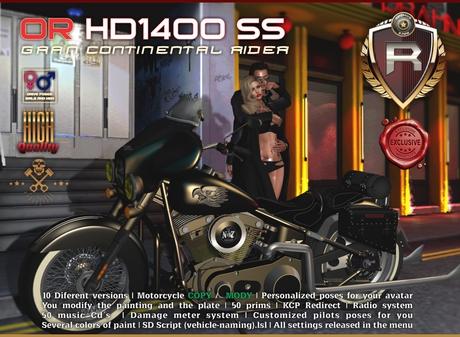 OR HD 1400 SS GRAN CONTINENTAL RIDER (BOX)