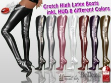-VD- Crotch High Latex Boots HUD - Maitreya , Belleza Isis,Venus,Freya - Slink Physique,Hourglass
