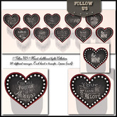 Special offer Valentine's Day !! Follow US !! Heart chalkboard lights collection x10
