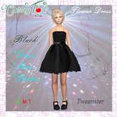 *Cherry Tot* Tweenster Flower Dress Black