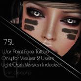 :Little Pricks: War Paint  Face Tattoo