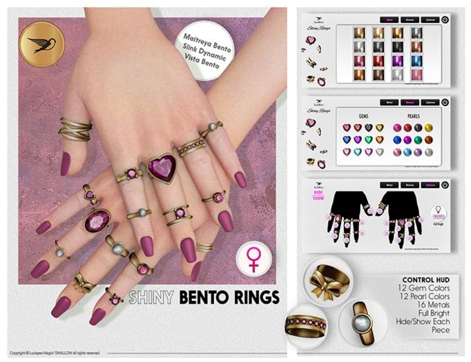^^Swallow^^ Shiny Bento Rings (WEAR) 0.2