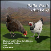 Zinnias Pollo Pack White and Dark Chickens