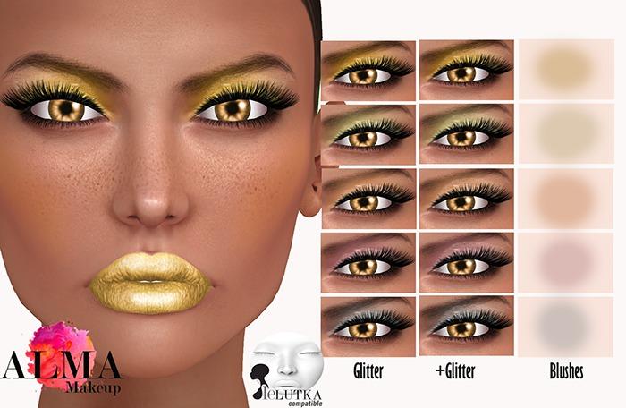ALMA Makeup - Shades of Gold - Lelutka