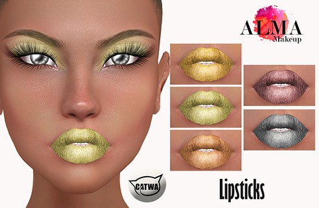 ALMA Makeup - Shades of Gold Lipsticks - Catwa