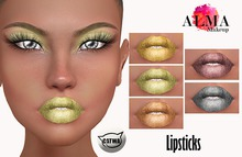 ALMA Makeup - Shades of Gold Lipsticks - Catwa