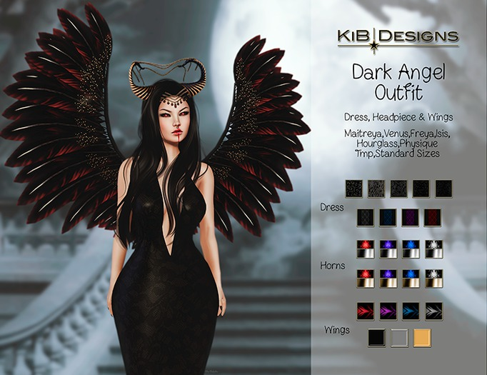 KiB Designs - Dark Angel Gown FATPACK