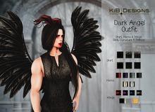 KiB Designs - Dark Angel Male Horns FATPACK