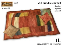 Gift from Old World - Medieval carpet with pillows